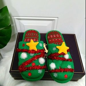 Dearfoams Christmas Sandals W/6-7
